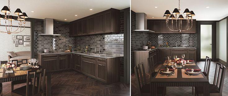 システムキッチン「ザ・クラッソ」の空間プランのご紹介です。ライフスタイルに合った、お気に入りのキッチンを見つけてください。