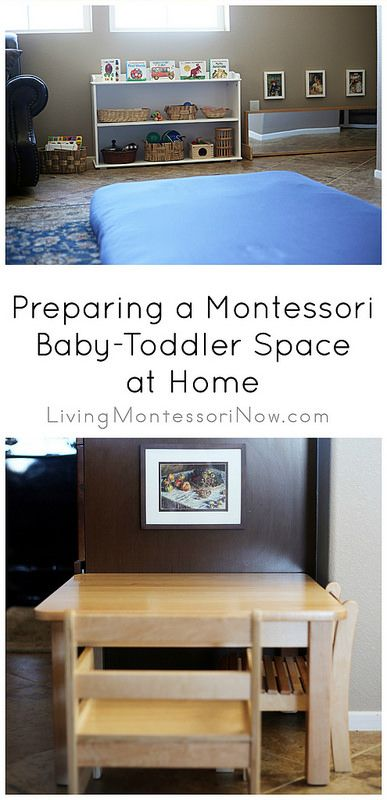 Montessori spaces for a baby-toddler in the main living area