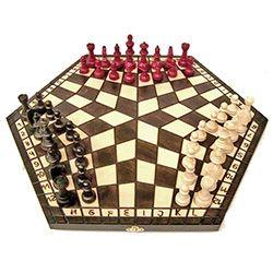 Polish Chess For Three (Szachy dla trzech) - Large Size