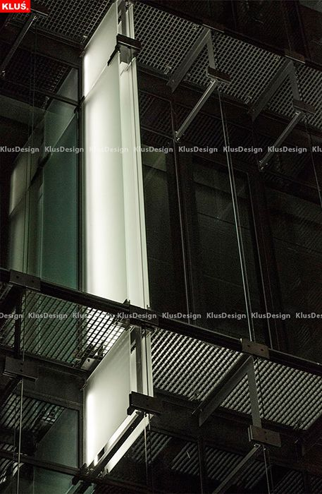 KLUS fixtures were used to illuminate the facade of the prestigious Pacific Office Building.