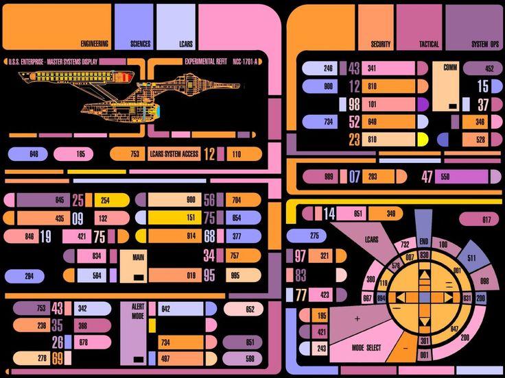 Star Trek The Next Generation S Lcars Ui Concept Ui
