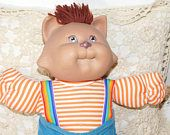 Cabbage Patch Koosas Cat, Cabbage Patch Dolls, Vintage Cabbage Patch Dolls, Cloth Body Dolls,