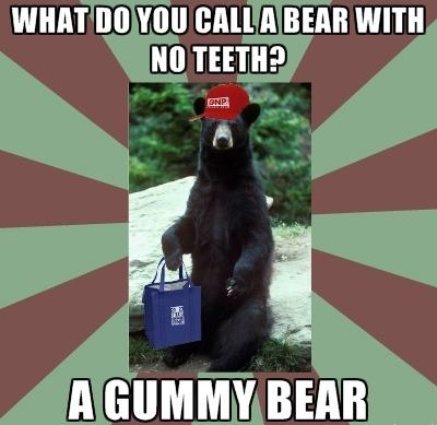 What do you call a bear with no teeth? A Gummy Bear! #FridayJokes