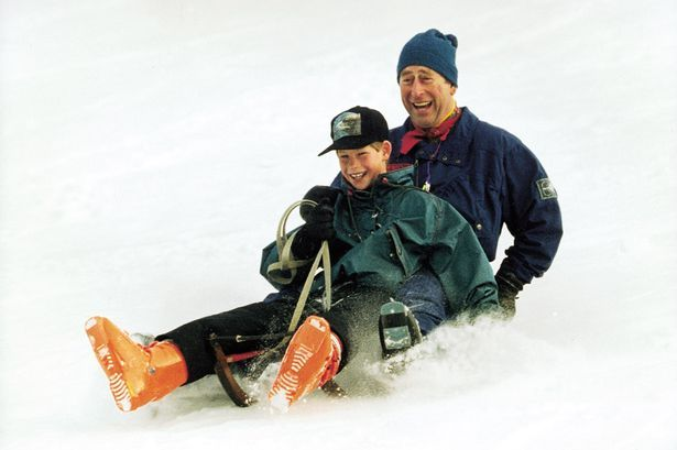 Prince Charles and Harry enjoy some son-and-dad time on the slopes at Klosters in Switzerland