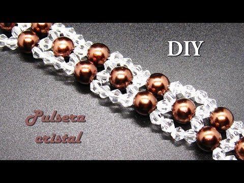 DIY – Muy facil -Pulsera de cristalitos swarouski Very easy – Swarouski crystall…