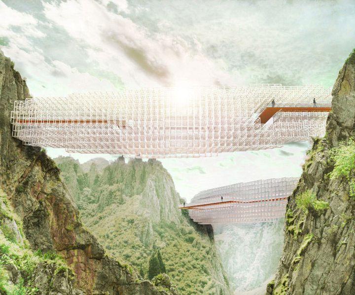Ponte em formato de nuvem | Arturo Tedeschi | bim.bon