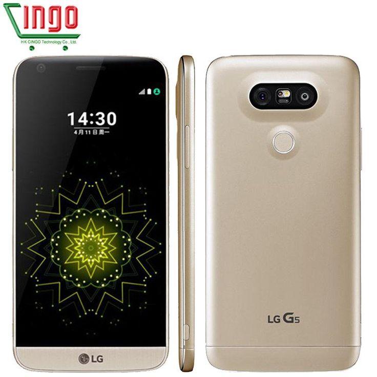 "Original LG G5 4GB RAM 32GB ROM Mobile Phone 5.3"" Quad HD IPS Quantum 2560*1440 px snapdragon 820 16MP Camera 4G LTE CellPhone"