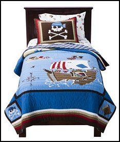 Circo  Pirate Quilt Set-pirate bedding-kids pirate theme bedrooms pirates