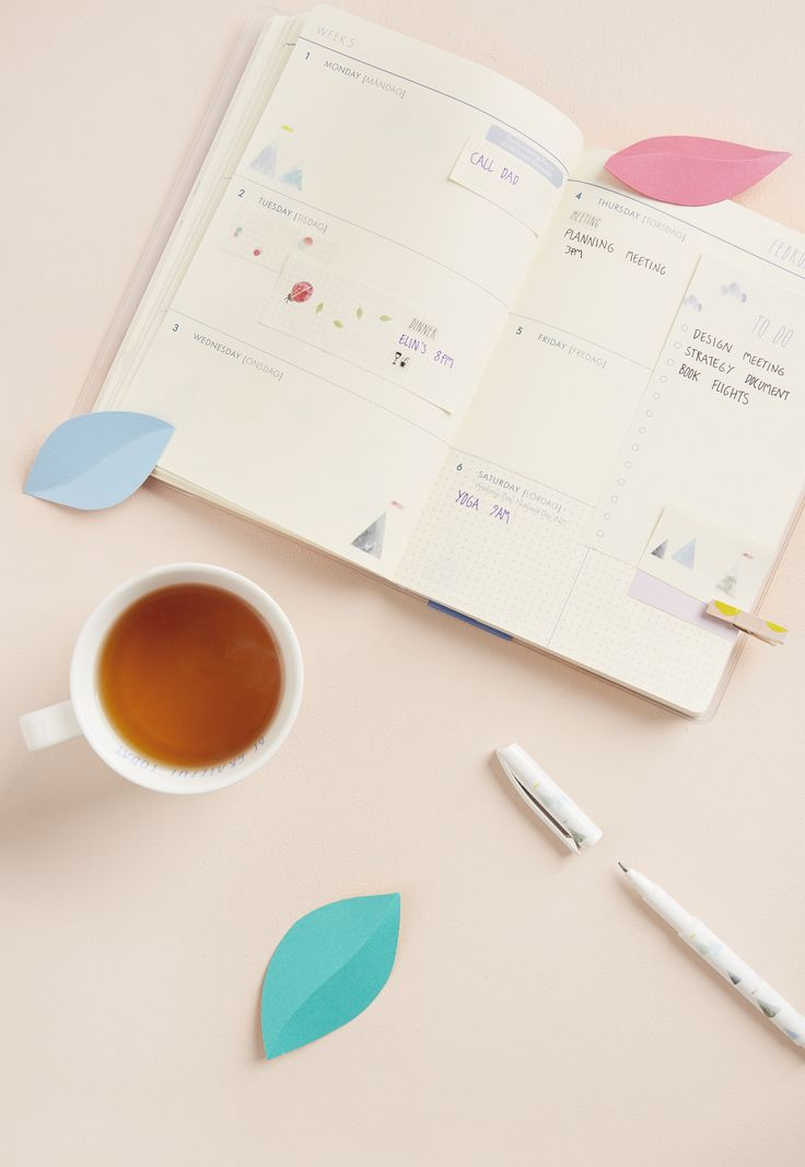 Be more organised at work and at home with these simple and fun tips