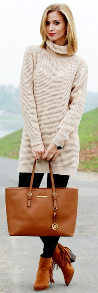 Thick beige Sweater I Beauty. Fashion.Shopping #thick