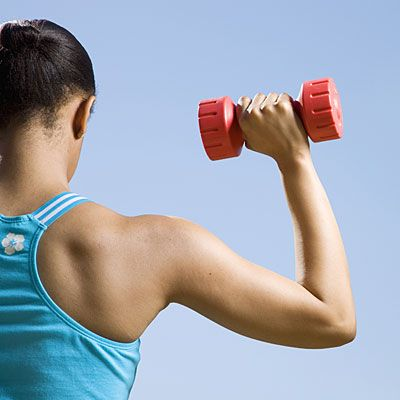 Using dumbbells and a medicine ball, this high-intensity, metabolism boosting workout burns up to 600 calories. #fitness   Health.com