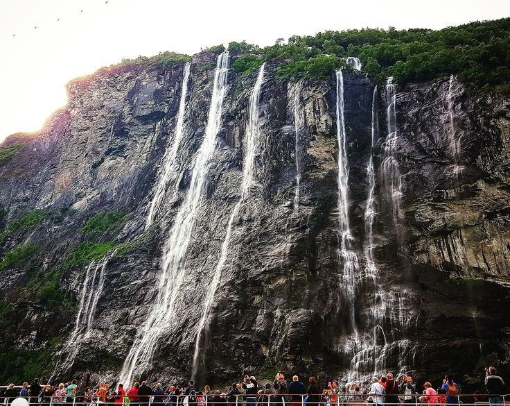 Seven Sisters Waterfall in Geiranger, Norway Stunning!