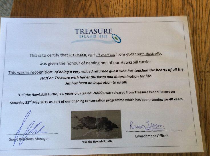 Jet's certificate