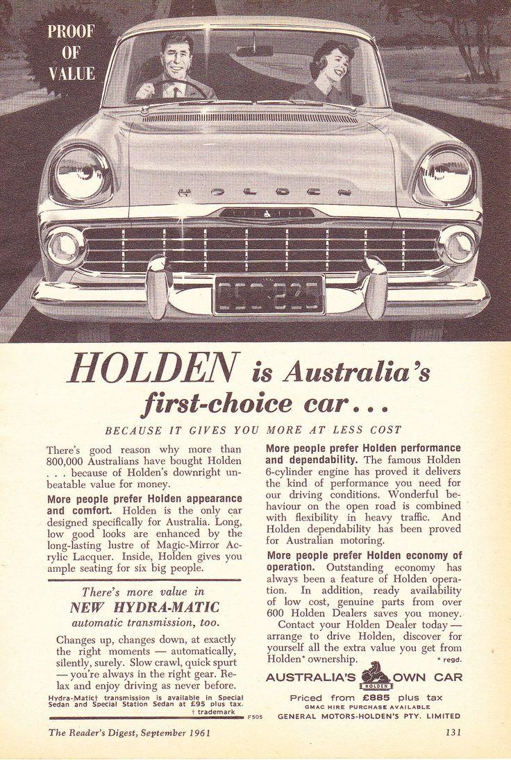 https://flic.kr/p/JF5gXh   1961 EK Holden Special Aussie Original Magazine Advertisement