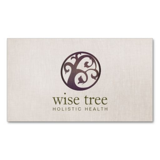 Wood Tree Alternative Medicine and Holistic Health Business Cards. This is a fully customizable business card and available on several paper types for your needs. You can upload your own image or use the image as is. Just click this template to get started!