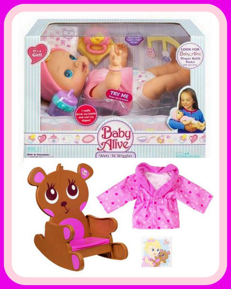 2006 Baby Alive by Hasbro Original Wets 'n Wiggles ...