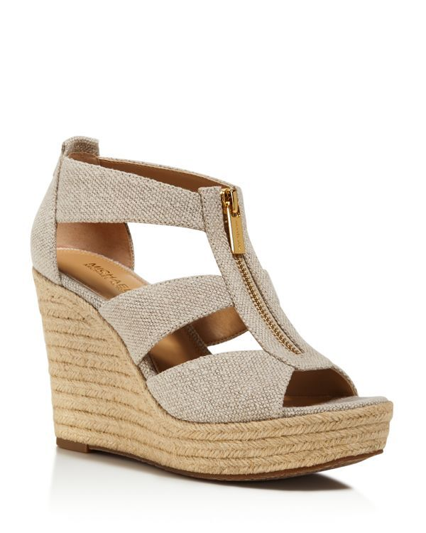 Michael Michael Kors Damita Peep Toe Wedge Sandals