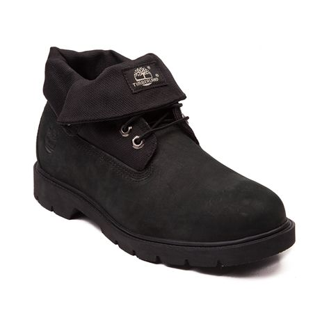 timberland black smooth roll top