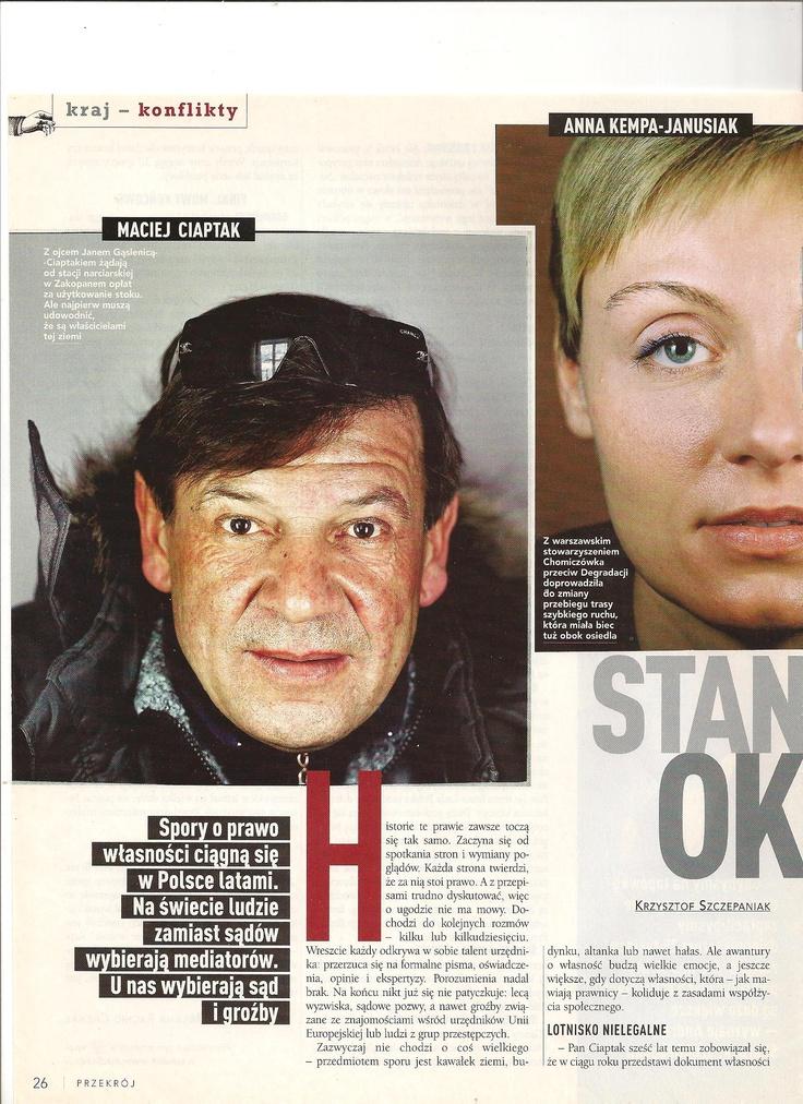 Stanąć okoniem - materiał o polskich sporach o prawo własności (Przekrój)