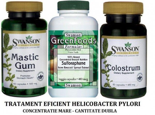 Tratament Naturist Eficient Helicobacter Pylori Surse Naturale Brocoli-Sulforaphane Mastic Gum Extract din Colostrum Pret Prospect *