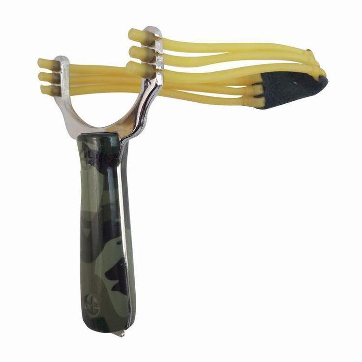 인기있는 강력한 슬링 샷 슈퍼 강한 풀 새총 위장 활 투석기 야외 사냥 새총 사냥 활 액세