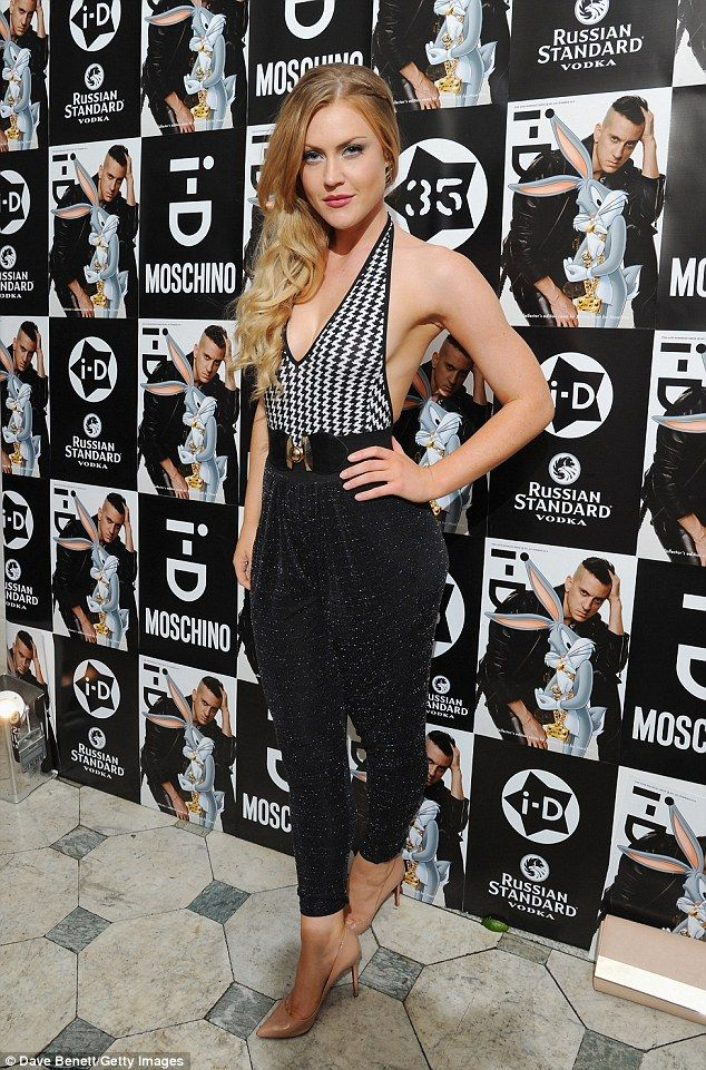 Hot: Classical singer Camilla Kerslake looked gorgeous in a skin-flashing halter-neck top ...