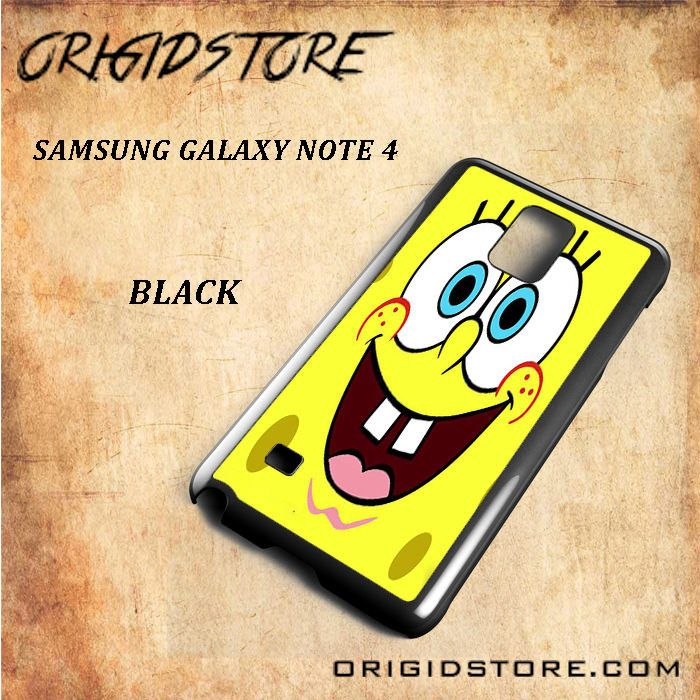 Smile Spongebob For Samsung Galaxy Note 4 Snap On and 3D Case