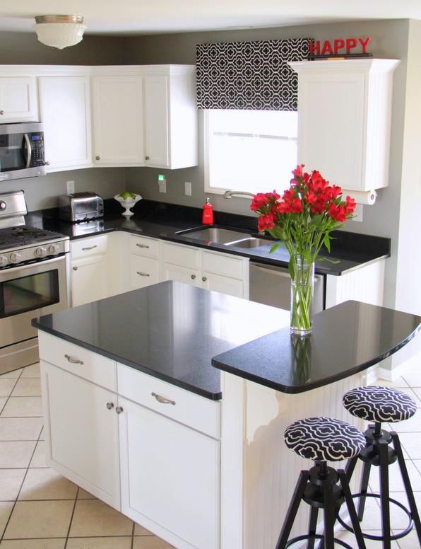 Before And After Diy Kitchen Reveal Black White