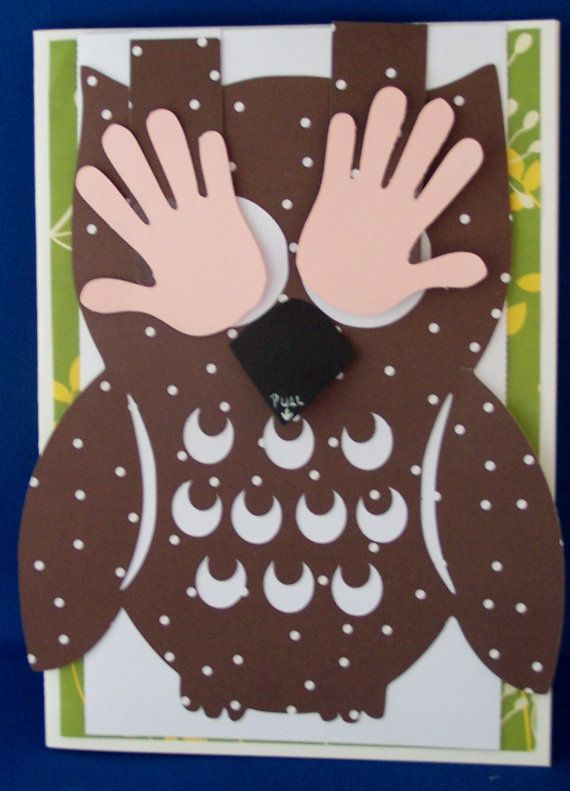 Peekaboo Owl  Card Cutting File for by EliteHandmadeCards on Etsy, £0.60