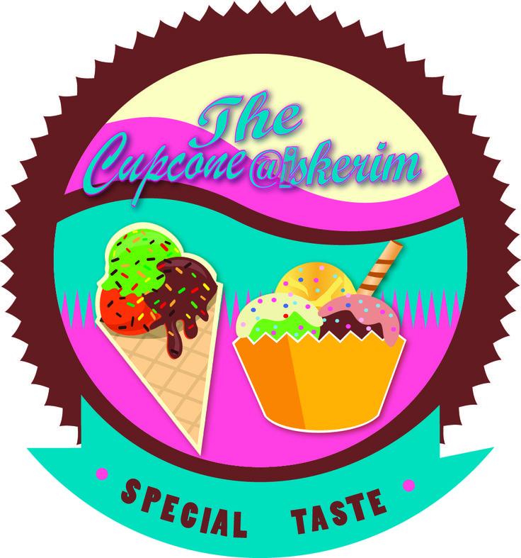 Design logo The Cupcone Aiskerim   #business #design #icecream