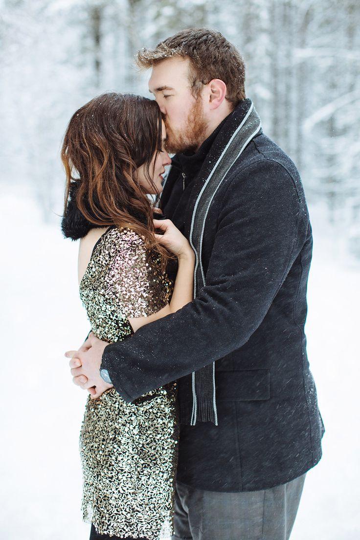 Photography: Jacqueline Elizabeth Photography - www.jacquelineelizabeth.com  Read More: http://www.stylemepretty.com/canada-weddings/2014/05/07/elegant-winter-engagement-session/
