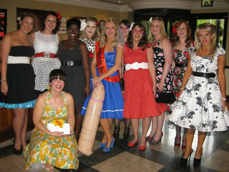 Vintage Hen Party Night Fancy Dress Theme Idea.  Lovely!!