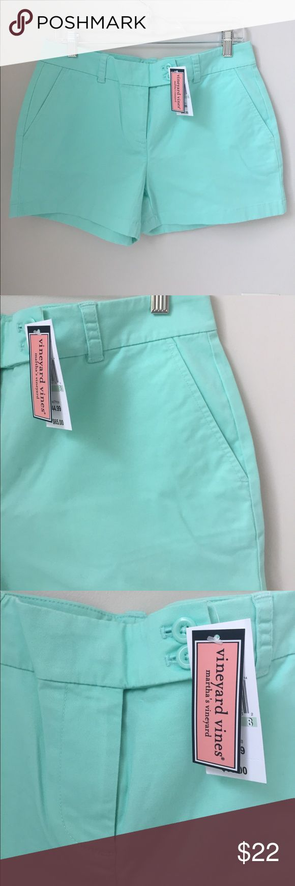 Vineyard Vines Shorts NWT!! From outlet; 2 back welt pockets; 2 front slant pockets; zip, button & hook closure Vineyard Vines Shorts