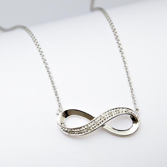 infinity diamond-accented necklace
