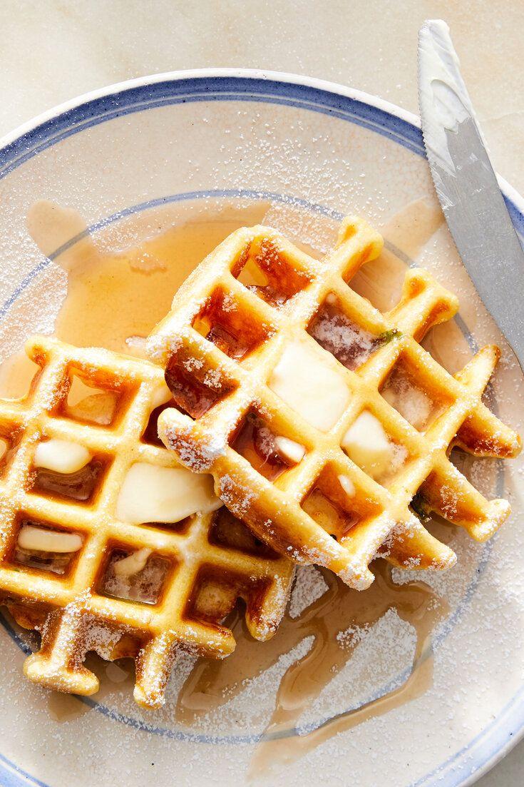 Scallion Cornmeal Waffles Recipe Recipe In 2020 Waffle Recipes Recipes Cornmeal Waffles