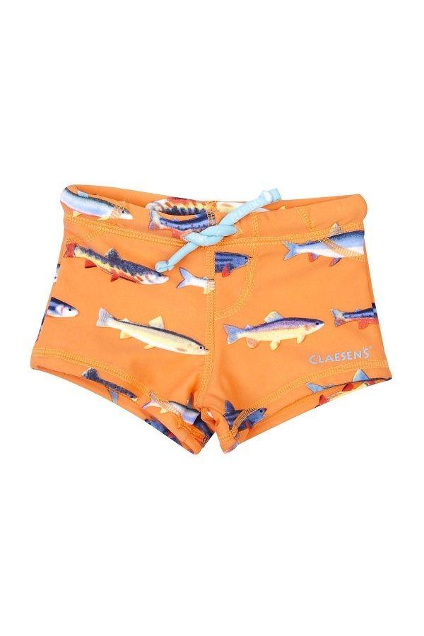 Claesen's baby zwembroek voor jongens Fish oranje