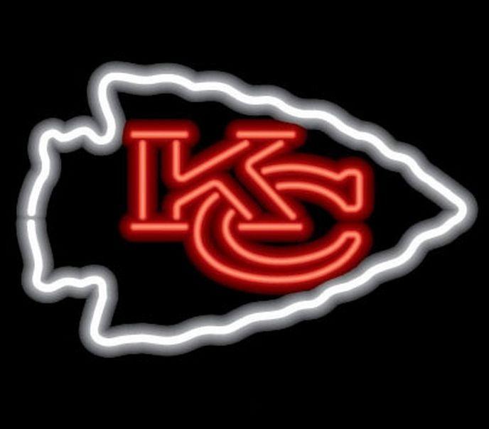 Kansas City Chiefs Neon Sign Nfl Team Logo Football Fan Man Cave Sport Light Kansascitychiefs