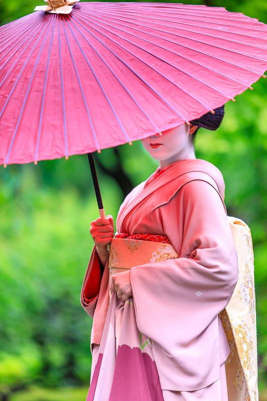 (Maiko, Katsuna. Kyoto. Japan.)She finished the Maiko in May 2017. (Maiko is only from 15 to 20 years old) This picture is from the last photo session she is wearing a kimono of Maiko.