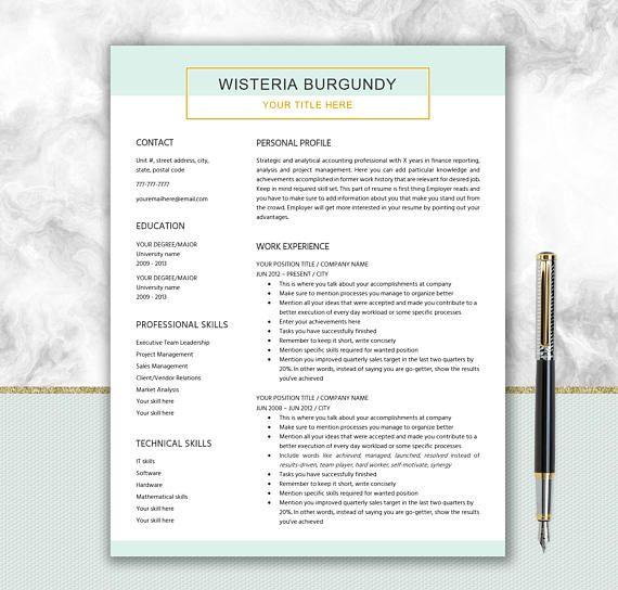 Elegant CV Design  Cover Letter Design  Modern Resume