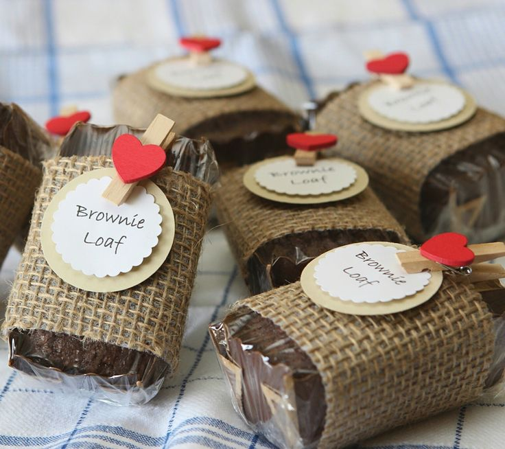brownie loaves for bake sale  wrapped in burlap  from