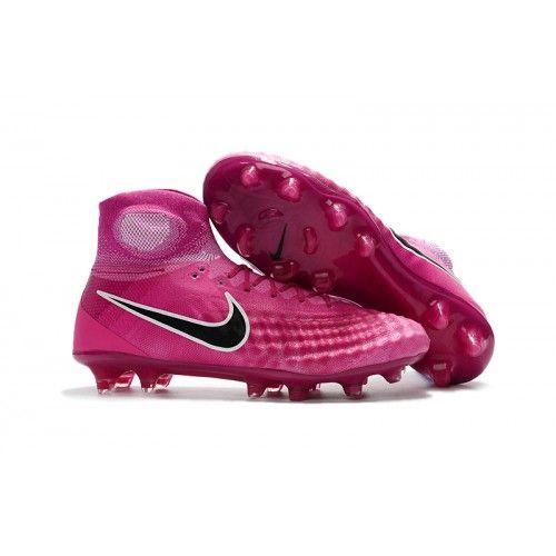 Nike Magista Obra II FG Rosa Svart Fotballsko
