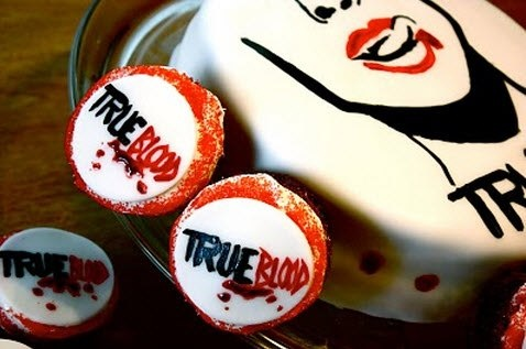~ true blood cake and cupcakes <3