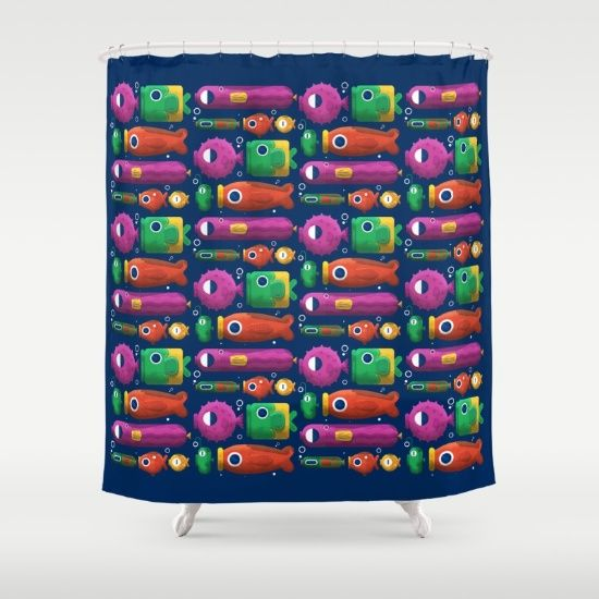 Fish pattern Shower Curtain