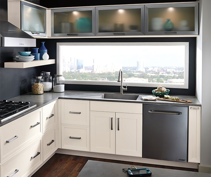 Lighted Upper Cabinets   Kitchen Craft Cabinetry, Donu0027t Like The White  Cabinets Tho