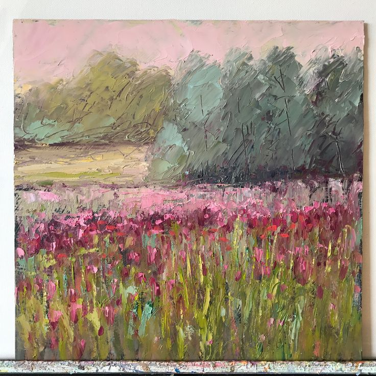 Red Clover, Mississippi, oil, 12x12, www.peytonhutchinson.com