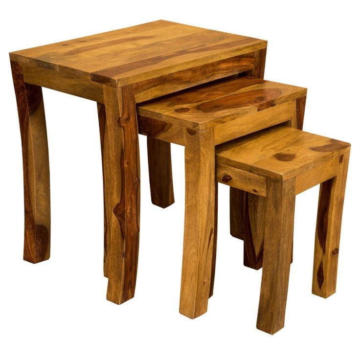 Jali Sheesham Nest Of Tables Curved Legs Furniture In