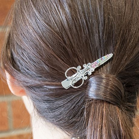 Picture Of Scissor Hair Clips Silver With Multi Swarovski Crystals 2 Pack Hairdresser