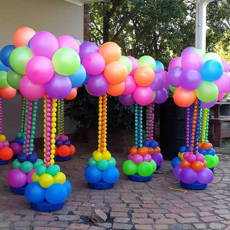 448 best images about decoracion de globos on pinterest for Balloon column decoration