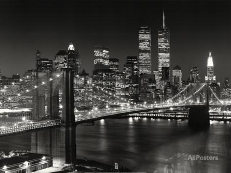 Pont de Brooklyn, New-York Affiche par Henri Silberman sur AllPosters.fr