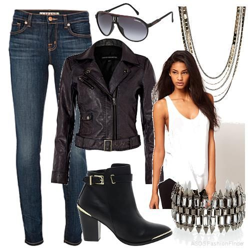 for biker chic and second on